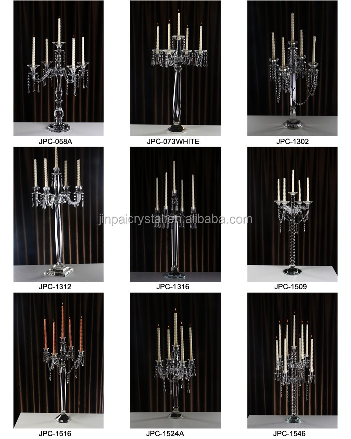 100cm tall new wedding centerpiece glass tubes crystal candelabra 10 arms for weddings