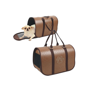 New Fashion Various Size Wholesale PU Leather Dog Carrier with Paws Design