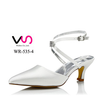 889a87419 wedding dress bridal shoes with dyeable satin Comfortable wide shoe board  super stable handmade low heel