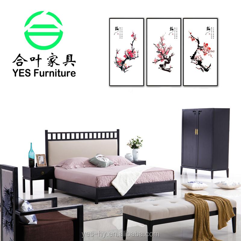Populares muebles de madera maciza cama de madera muebles de ...