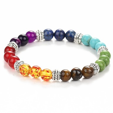 New Natural Black Lava Stone Bracelets Chakra Healing Balance Beads Bracelet for Men Women Stretch Yoga Jewelry Christmas Gifts