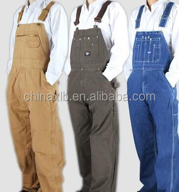 Denim overalls / wearable canvas welding service auto repair clothing / three color options coveralls