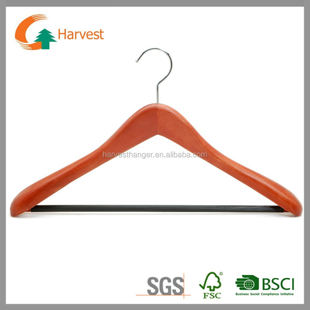 Designer cherry finish coa&Jacket hangers