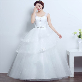 2019 Vestidos De Novia Illusion Veil Spaghetti Strap Layered Elegant Simple Wedding Dress Bridal Gowns Buy Cheap Bridal Gowns Latest Bridal Wedding