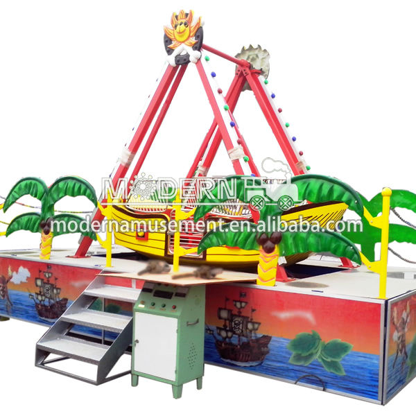 Theme park mini small pirate ship attractions for children