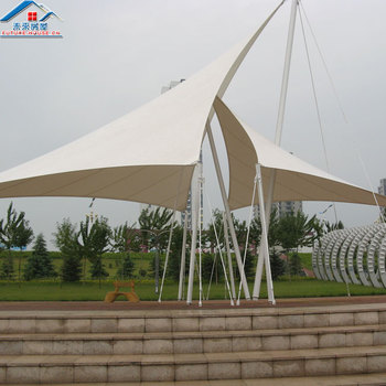 Factory supply commercial shade membrane structure umbrella