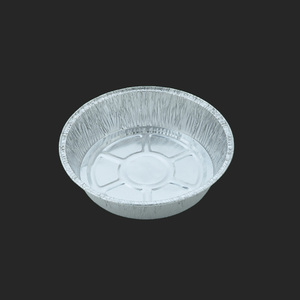 Disposable custom round aluminum foil pizza baking pan 14 in