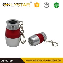 Manufacturer wholesale promotion cheap smart children 6led torch emergency aluminum carabiner led flashlights
