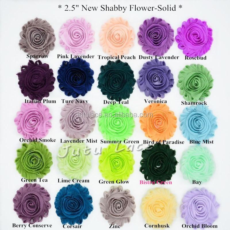"2.5/"" shabby flower 1 yard  DARK PURPLE solid,wholesale shabby trim flower"