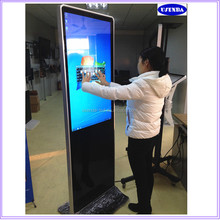 Good price 42 inch super thin flat screen pc 3g wifi network freestanding lcd ad display