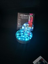 6 inch Round Remote Controlled Crystal Light Base for Poseur Table