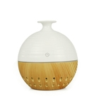 hollowed out wood Grain Ultrasonic Aroma diffuser with Waterless Auto Shut-off with 7cilorful light