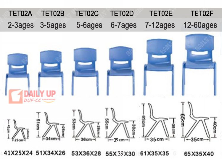 24 45 Cm Seat Height Children Chair Kids Plastic Chairs From China