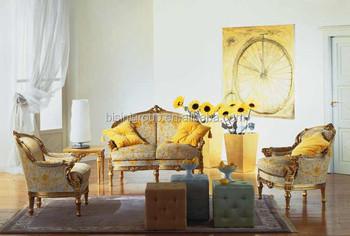 Classic Vintage Europeo 2 Posti Divano Con Poltrone In Provence Romantico  Giallo Per Soggiorno - Buy Europeo 2 Posti Divano,Soggiorno Annata Room ...