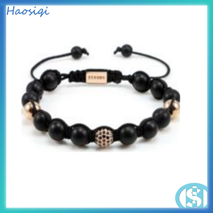 Fashion wholesale cheap skull beads make cords braided bracelet skull bracelet