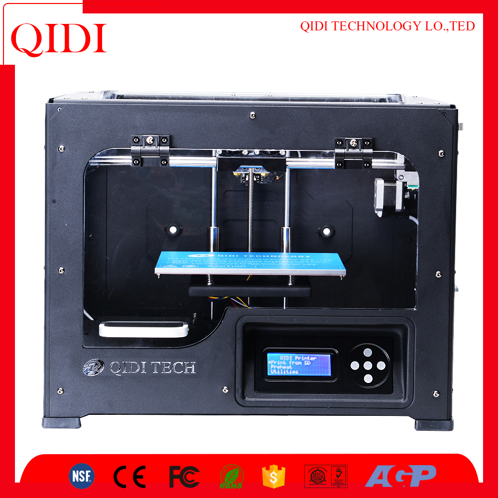 QIDI Diy 3d printer with abs/pla filament,open 3d printer kit,3d printer dual kit