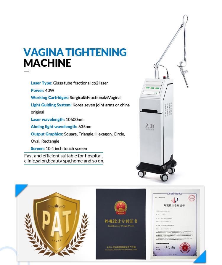 Wrinkle remover whitening co2 laser skin resurfacing machine