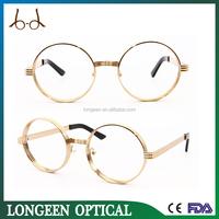 latest round gold reading glasses/Retro optical frame