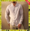 2016 latest casual mandarin collar design linen shirts for men