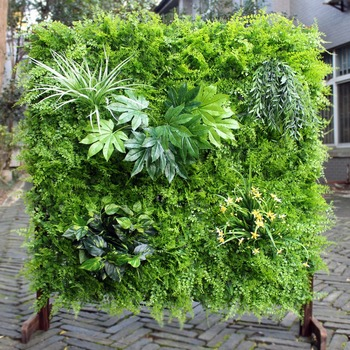 Diy Artificial Indoor Vertical Garden Green Wall With Ce ...
