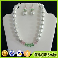 2015 fake artificial small imitation pearl jewelry necklace set with magnetic clasp #B023