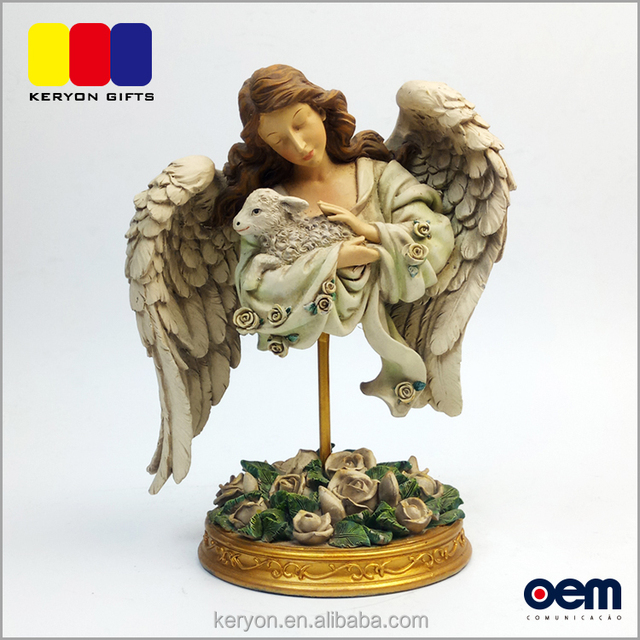 Wholesale Home Decoration Hand Painted Resin Guardian Angel Figurines