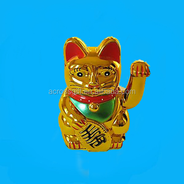 golden waving ceramic lucky cat