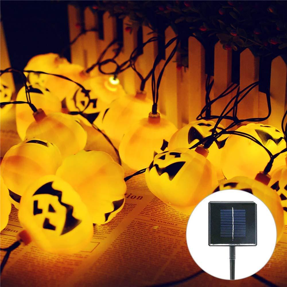 Solar String Lights, Jaragar Outdoor Waterproof Solar Lights Outdoor Pumpkin Solar Lights Outdoor String Halloween Pumpkin Light Solar Powered LED Decoration Lights for Halloween Party