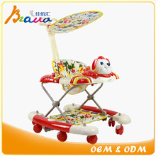 Cute Puppy Sharp Height Adjustable 2-in-1 Baby Walker and Rocker with Music