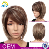 Free wig catalogs wholesale gold color short party hair wig synthetic bob wigs