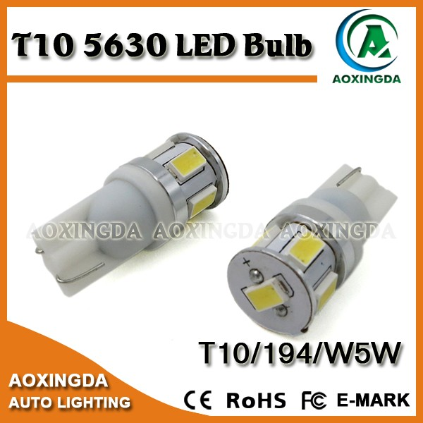 Very reliable New type Samsung W5W 194 T10 5630 6W LED bulb