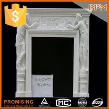 2014 PFM hot sale natural beautiful hand carved stones for fireplaces antique mill stone