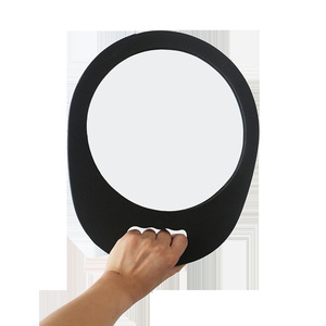 Professional Handheld Salon Barbers Hairdressers Hair Mirror With Ring