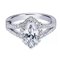 White Sapphire CZ Paved Woman Wedding Rings Carat Diamond Engagement Ring