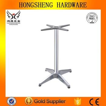 Trumpet Table Base Round Table Base Chrome Table Leg