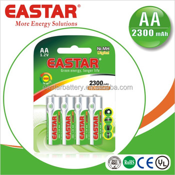 OEM/ODM 1.2V AA 2300mAh Ni-MH Rechargeable Battery for torch/ tools
