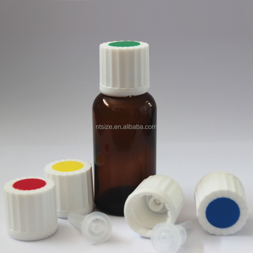15ml Amber Glass Bottles For Essential Oils With Plastic Pilfer Proof Screw Cap