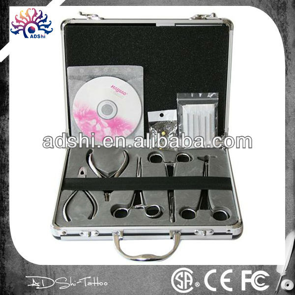 2014 High Quality Body Piercing Kit for Ear/Tougue, body art tools