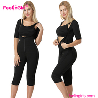 Accept paypal double compression front zipper vest waist shapewear body shaper for women after pregnancy