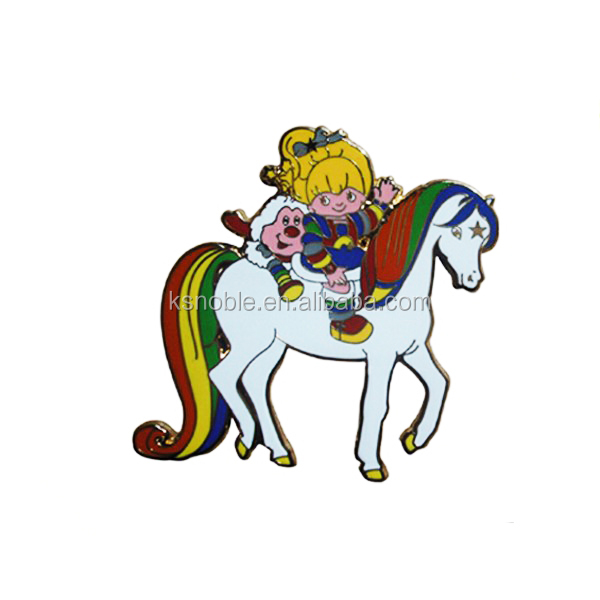 High Quality horse Cloisonne cheap custom hard enamel pin lapel pin