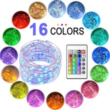 Multi Color Changing Waterproof 8 Modes Copper Wire Firefly Lights Remote Control Led Christmas String Fairy Lights