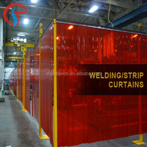 Durable use welding red pvc strip curtain , red color welding pvc strip