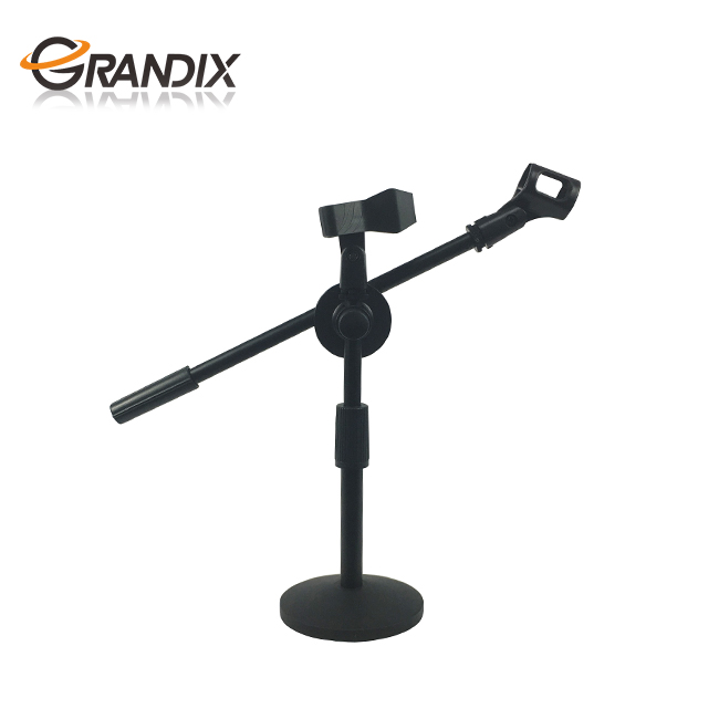 Adjustable Foldable Desk Microphone Stand With Mic Clip For