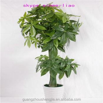 Q071507 Three Trunk Fake Bonsai Plants Artificial Pachira Money Tree