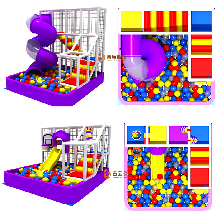Hot sale mini soft children indoor playground with ball pool
