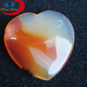 Wholesale Engraved Gemstone Heart, Red Agate 1' Wedding Gift