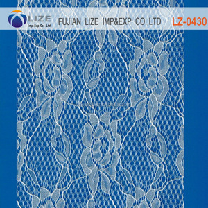 polyester Dubai tulle emb sequin embroidery lace fabric wholesale lz-0430