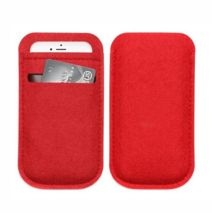 Hot selling 2018 premium mobile bag/felt phone pouch with low price, Picture -canbe mixed color
