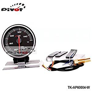 Luxbody(TM) AP 60MM OIL TEMP GAUGE ELECTTRO-LUMINESCENT/OIL TEMP METER (black) (Original color box and logo) TK-AP60004-B
