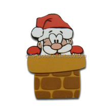 Customized micro USB dust cover Santa claus shape micro USB dust cover